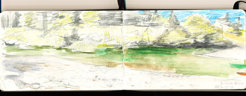 Out Sketching: the Gualala River